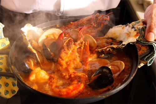 オマール海老入り海鮮鍋