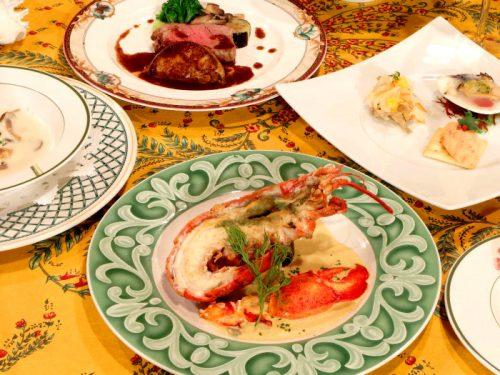 オマール海老とフィレ肉のステーキ