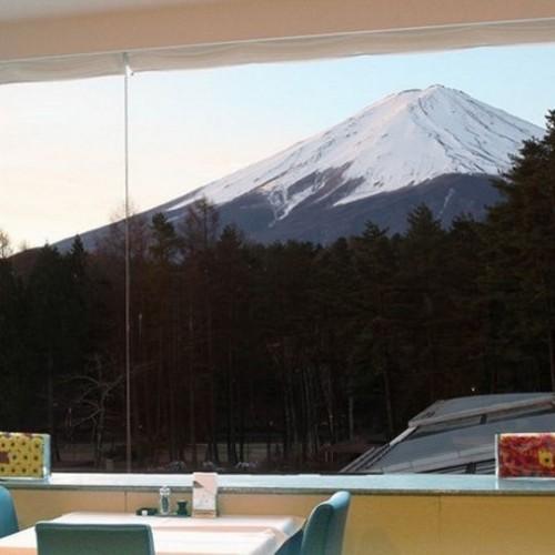 レストランからの富士山の絶景