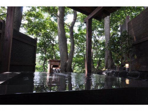 原生林の温泉貸切露天風呂